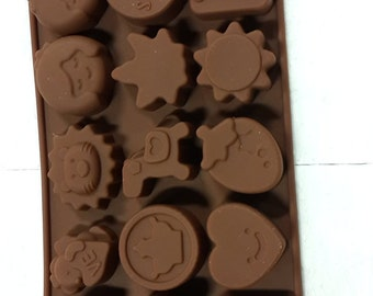 TAAVI #2 Kid Fun Shapes Silicone Candy Mold (T-835)