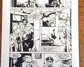 Batman: Turning Points #1, page 9 Commissioner Gordon original art