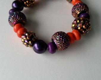 Bracelet;stone beads;glitter beads;pearls