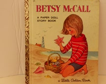 First Edition 1965 - Betsy McCall A Paper Doll Story Book - UNCUT - Little Golden Book 559 Vintage Children's Uncut Paper Doll Picture Book