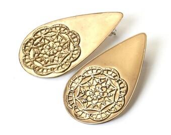 Earrings of ethno vintage metal