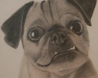 "Custom Pencil Drawing 11""x14"""