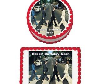 Beatles Edible Cake / Cupcake Toppers