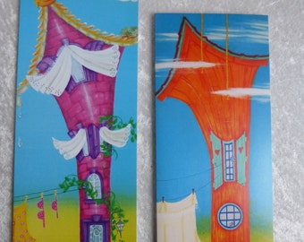 """2 so-called greeting cards """"Small houses"""""""