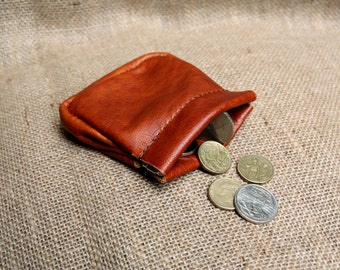 Leather Squeeze Frame Coin Purse