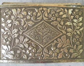 Japanese elegant box silver coloured metal