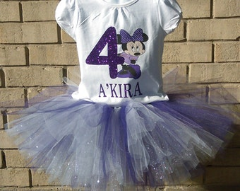 Minnie Mouse Inspired Birthday Tutu Set