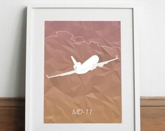 McDonnell Douglas MD-11 Aircraft - Art print