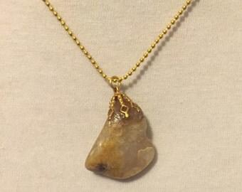 Polished Pink Crystal Necklace