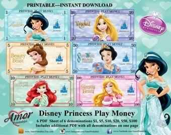 Play Money - Disney Princesses Inspired