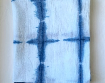 Shibori Squares Indigo Cotton Baby Swaddle Blanket