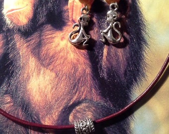 Monkey Charm Jewelry Set