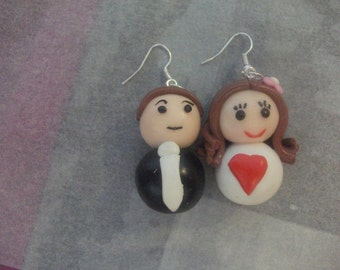 pair earring a married couple