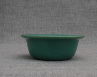 California Pottery Green Custard Cup