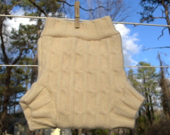 100% Wool Diaper Cover Shorties Size XS and S