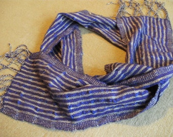 summer scarf in fine wool, silk and linen