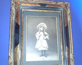 Vintage card, wood frame