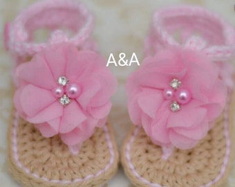 Handmade baby sandals size newnorn- 12 months