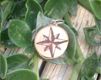 Necklace compass rose