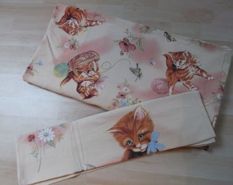 vintage duvet cover and pillow case (bed 1 person)