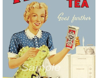 Vintage Ty-Phoo Tea Advertising Poster Print