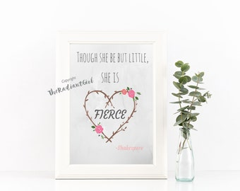 Though she be little art print