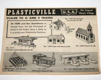 Vintage PLASTICVILLE Pamphlet for O & S Trains