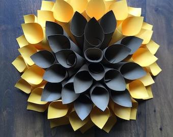 Sunflower  Paper Dahlia