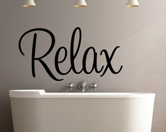 relax wall decal wall wall decalwall decor