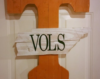 Tennessee Vols Wood Sign