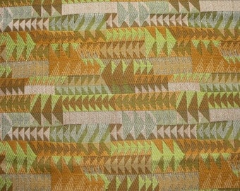 """Fabric upholstery fabric vintage tapestry 1960s """"Tiki Arrows"""""""
