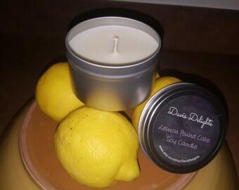 Lemon Pound Cake Soy Candle, 8 oz.