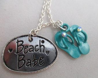 Beach Babe necklace Sunglass necklace Ocean Necklace