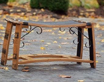 Bourbon Barrel Stave Bench