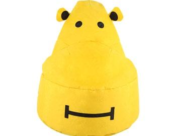 Yellow Hippo Kids Bean Bag Chair