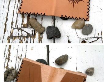 Handmade, Laser Engraved Leather Wallet