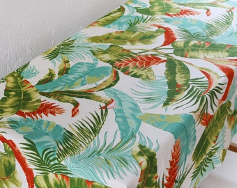 Tropical Style Paint Life Banana Leaf Flower Canvas Cotton Fabric For Tablecloth Home Decor