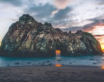 Island - Sunset - Sea - Seascape - Island Photo - Sea Photo - Coast Photo - Digital Photo - Digital Download - Instant Download - Wall Art
