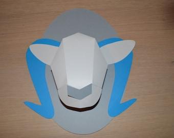 trophy buck origami paper