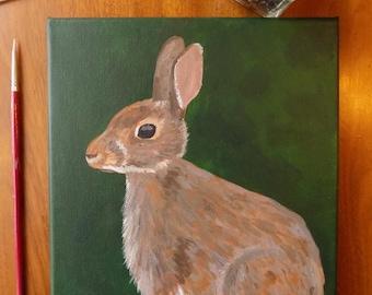 Original Rabbit Acrylic Painting
