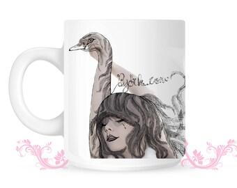 BJORK Mug - swan vespertine art mug-