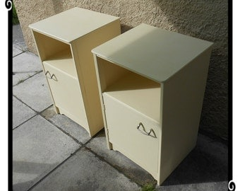 Bedside Cabinets. 1960's. Chic not Shabby. Located BS22 8PF. See listing for delivery details.