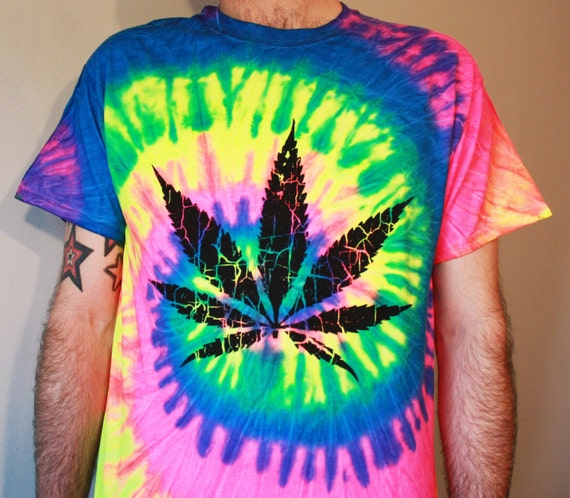 Weed Tie Dye T Shirt Acid House Music Fashion By Sicksquidapparel