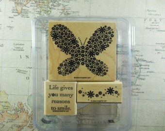 Reason to Smile Retired Stampin Up Set of 3