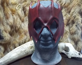 Warlock Leather mask for LARP