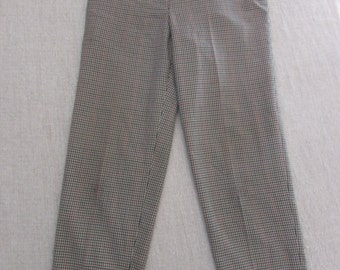 60's High Waisted Checkered Trousers