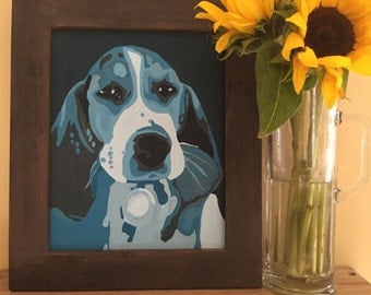 Pet Portrait, Animal Lover Gift, Dog Lover, Cat Lover, Pet Painting, Handmade Customized Pet Portrait, Acrylic Painting on Canvas