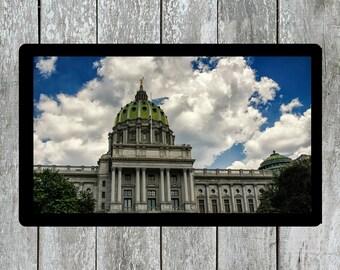 Pennsylvania, Capital Building, Architecture Photo, Urban City, Urban Photo, Clouds, Capital, Capital City, Skyline, Cityscape
