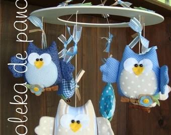 Children mobile owls