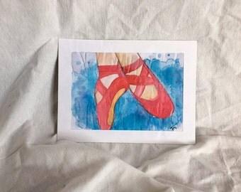 Watercolour Ballerina shoes